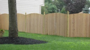Solid Single Convex Cedar Fence