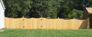 Solid Single Concave Cedar Fence