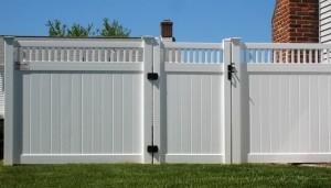 Solid Lancaster Vinyl Fence