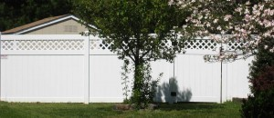 Stockton Large Lattice Vinyl Fence