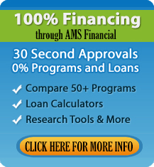 100% financing ad thru AMS Financial