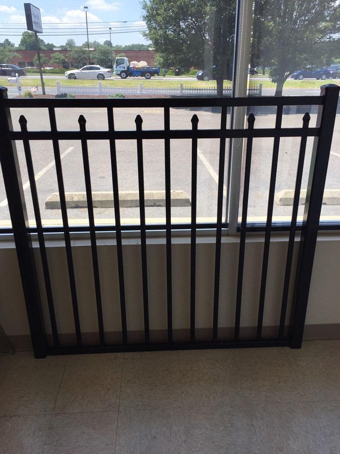 black aluminum gate on clearance